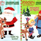 Rudolph - Christmas Edition Holiday - Coloring & Activity Book - (Set of 4 Books)