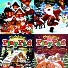 Christmas Play Pad Book - Jam-Packed with Coloring & Activity - (Set of 4 Books)