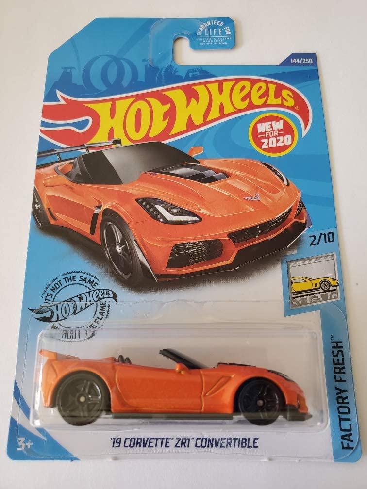 Hot Wheels 2020 Factory Fresh '19 Corvette ZR1 Convertible, Orange 144/250