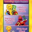 NEW! Sesame Street Learning Triple Feature - Letters; Numbers; Sing, Hoot DVD