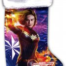 "Marvel Captain 18"" Full Printed Satin Christmas Stocking with Plush Cuff - v2"