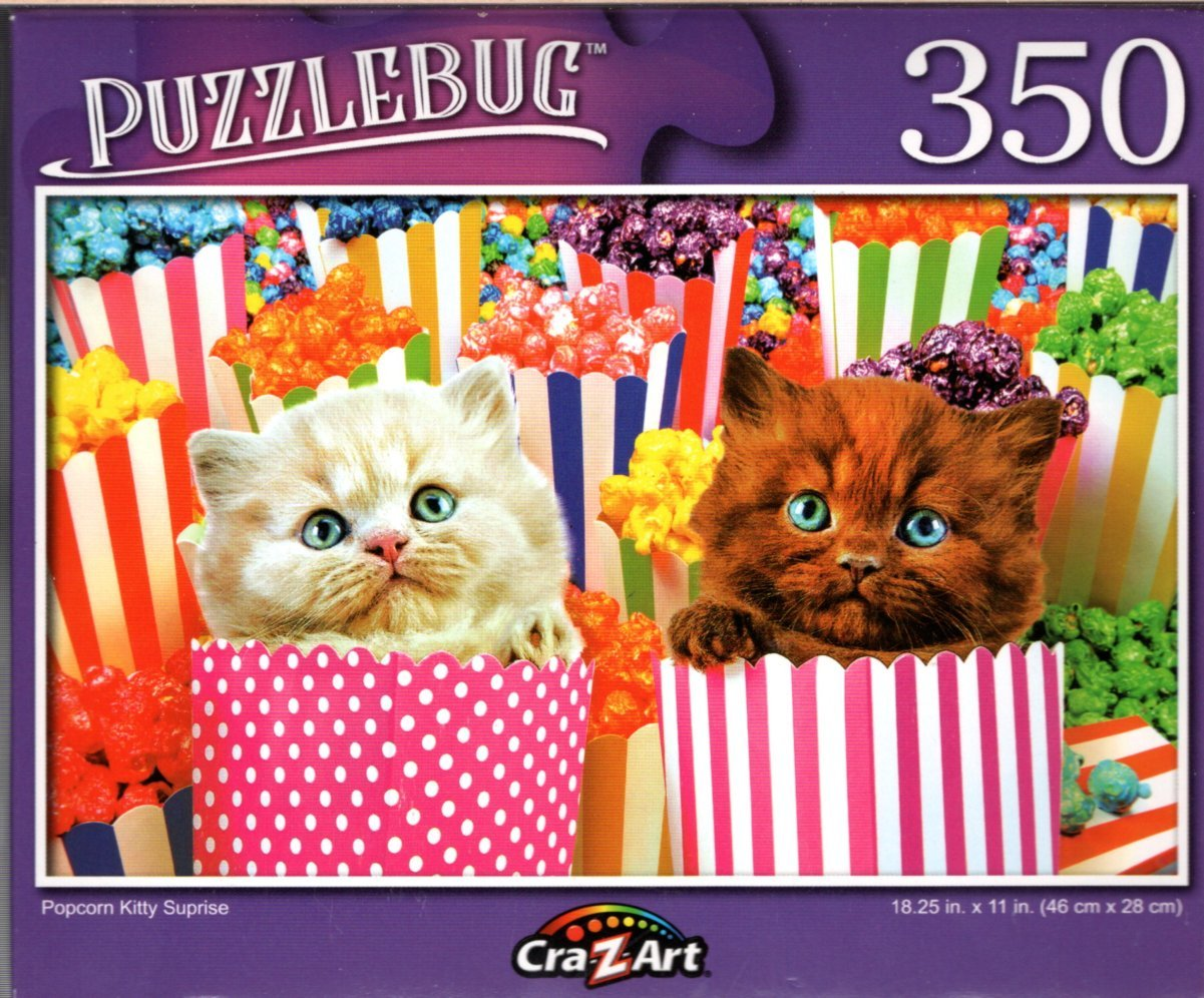 Popcorn Kitty Surprise - 350 Pieces Jigsaw Puzzle