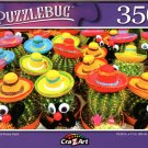 Cute and Funny Cacti - 350 Pieces Jigsaw Puzzle
