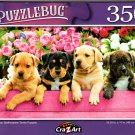 American Staffordshire Terrier Puppies - 350 Pieces Jigsaw Puzzle