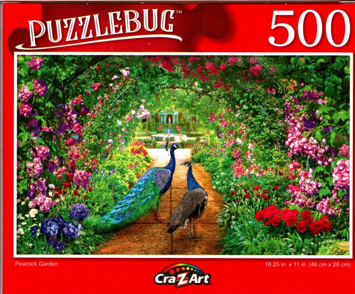 Peacock Garden - 500 Pieces Jigsaw Puzzle