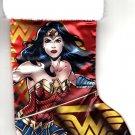 "DC Comics Wonder Woman - 18"" Full Printed Satin Christmas Stocking with Plush Cuff - v3"