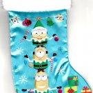 "Minions - 18"" Full Printed Satin Christmas Stocking with Plush Cuff"