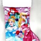 "Princess - 18"" Full Printed Satin Christmas Stocking with Plush Cuff"