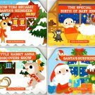 Christmas Holiday - Children Pop-Up Board Books - (Set of 4 Books)