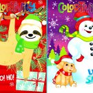 Christmas Holiday - Coloring and Activity Book ~ Let it Snow and Slow Ho! Ho! (Set of 2 Books)