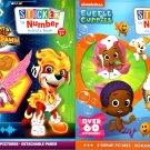 Nickelodeon Bubble Guppies and Paw Patrol - Sticker by Number Activity Book