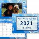 2021 Photo Frame Wall Spiral-Bound Calendar (Geometrics Edition #002)