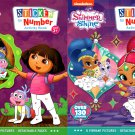Nickelodeon Shimmer Shine, Dora the Explorer - Sticker by Number Activity Book (Set of 2 Books)