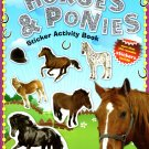 Horses & Ponies - Sticker Activity Book - More Than 100 Reusable Stickers Inside