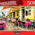 Traditional Colorful Tavern, Skiathos Island, Greece - 500 Pieces Jigsaw Puzzle
