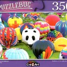 Colorful Hot Air Balloons - 350 Pieces Jigsaw Puzzle