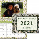 2021 Photo Frame Wall Spiral-Bound Calendar (Geometrics Edition #025)