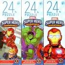 Marvel Super Hero Adventures - 24 Pieces Jigsaw Puzzle (Set of 3)