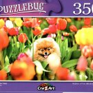Flint in The Tulips - 350 Pieces Jigsaw Puzzle