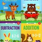 First Grade Educational Workbooks - Good Grades - Set of 4 Books - v4