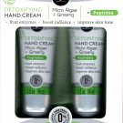 Detoxifying Hand Cream - Micro Algae + Ginseng + Peptides 2 Pack Set Moisturize 2 x 1fl oz (30ml)