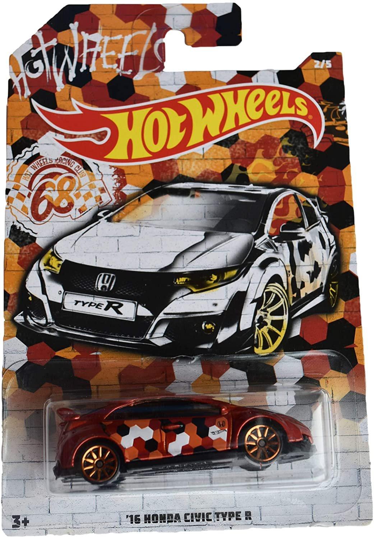 Hot Wheels 68th Racing Club '16 Honda Civic Type R 2/5, red