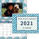 2021 Photo Frame Wall Spiral-bound Calendar - (Geometrics Edition #004)