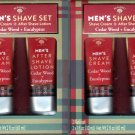 Cedar Wood + Eucalyptus Men's Shave & After Shave Lotion Cream 2 Pack Set Moisturize
