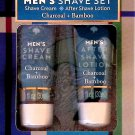 Charcoal + Bamboo Men's Shave & After Shave Lotion Cream 2 Pack Set Moisturize 2 x 1fl oz (30ml)