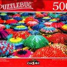 Colorful Umbrellas - 500 Pieces Jigsaw Puzzle