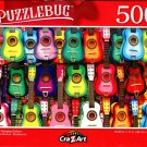 Colorful Hanging Guitars - 500 Pieces Jigsaw Puzzle