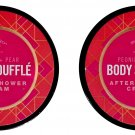 Body Souffle Peonies + Pear After Shower Cream 5fl oz (147.8ml) (for All Skin Types) (Set of 2 Pack)
