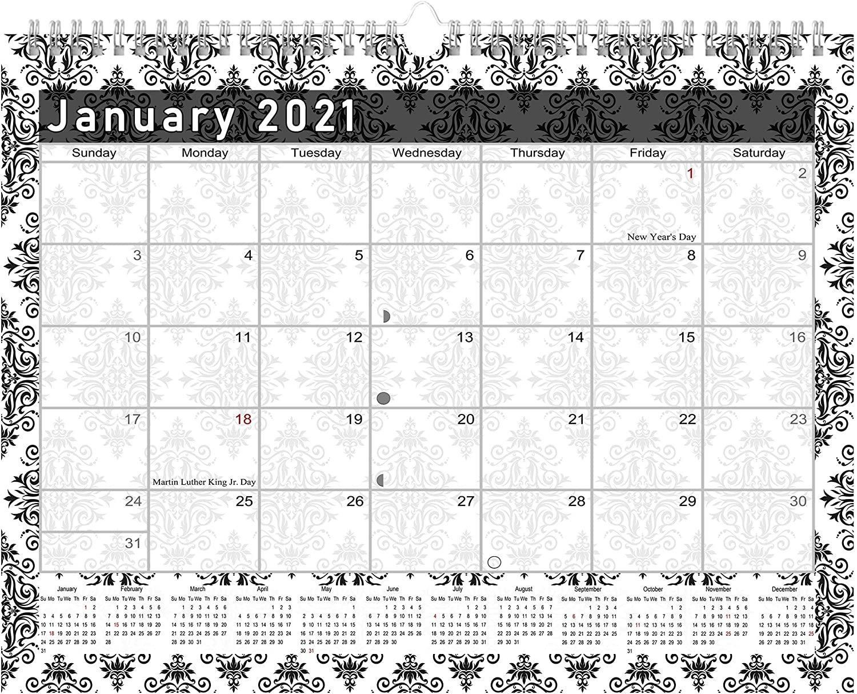 2021 Monthly Spiral-Bound Calendar - Edition #08