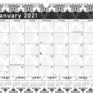 2021 Monthly Spiral-Bound Calendar - Edition #08