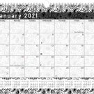 2021 Monthly Spiral-Bound Calendar - Edition #011