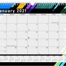 2021 Monthly Spiral-Bound Calendar - Edition #013