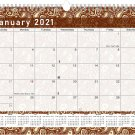2021 Monthly Spiral-Bound Calendar - Edition #020
