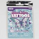 Glitter4Girls Temporary Tattoos, Pack of 50