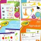 Crayola - Pre K-K Preschool Learning Educational Activity Workbook (Set of 4 Books)
