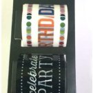Hampton Art Decorative Tape Happy Birthday 50074 - 2 Rolls / 45 ft Each