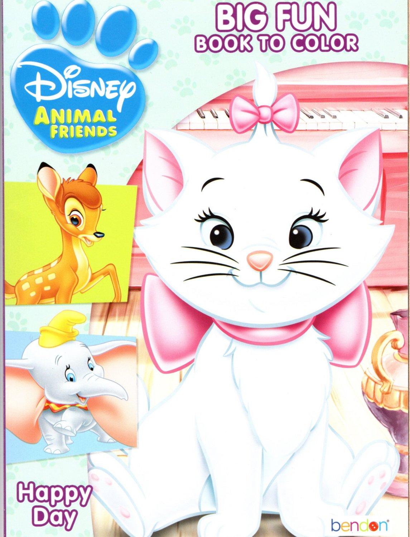 Disney Animal Friends - Big Fun Book to Color - Happy Day