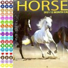 2021 16 Month Wall Calendar - Horses - with 100 Reminder Stickers
