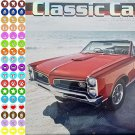 2021 16 Month Wall Calendar - Classic Cars  - with 100 Reminder Stickers