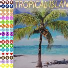 2021 16 Month Wall Calendar - Tropical Islands  - with 100 Reminder Stickers