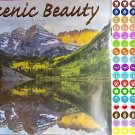 2021 16 Month Wall Calendar - Scenic Beauty  - with 100 Reminder Stickers