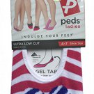 Peds Ladies Ultra Low Cut Liners with Heart Design