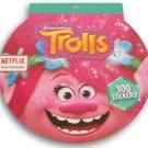 Trolls Sticker Pad - 8 x 8 Inches - 300 Stickers