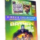 Batman Assault on Arkham Blu Ray & Suicide Squad Digital Copy 2 Movie Collection DVD