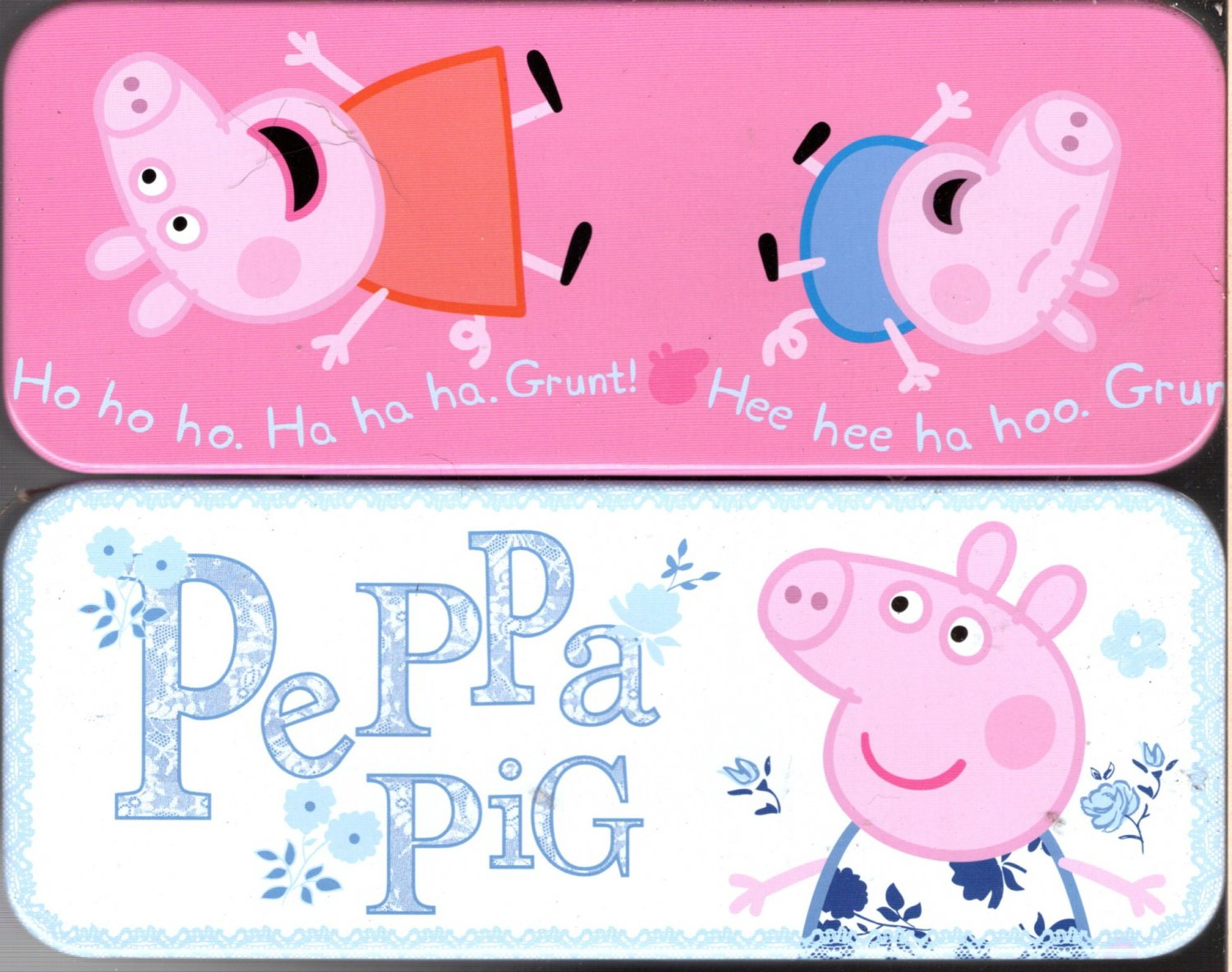 Peppa Pig - Metal Tin Case Pencil Box Storage