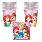 Disney Princesses - Party Cup & Napkin Pack for 16 (16 - 9oz Cups & 16 Napkins)